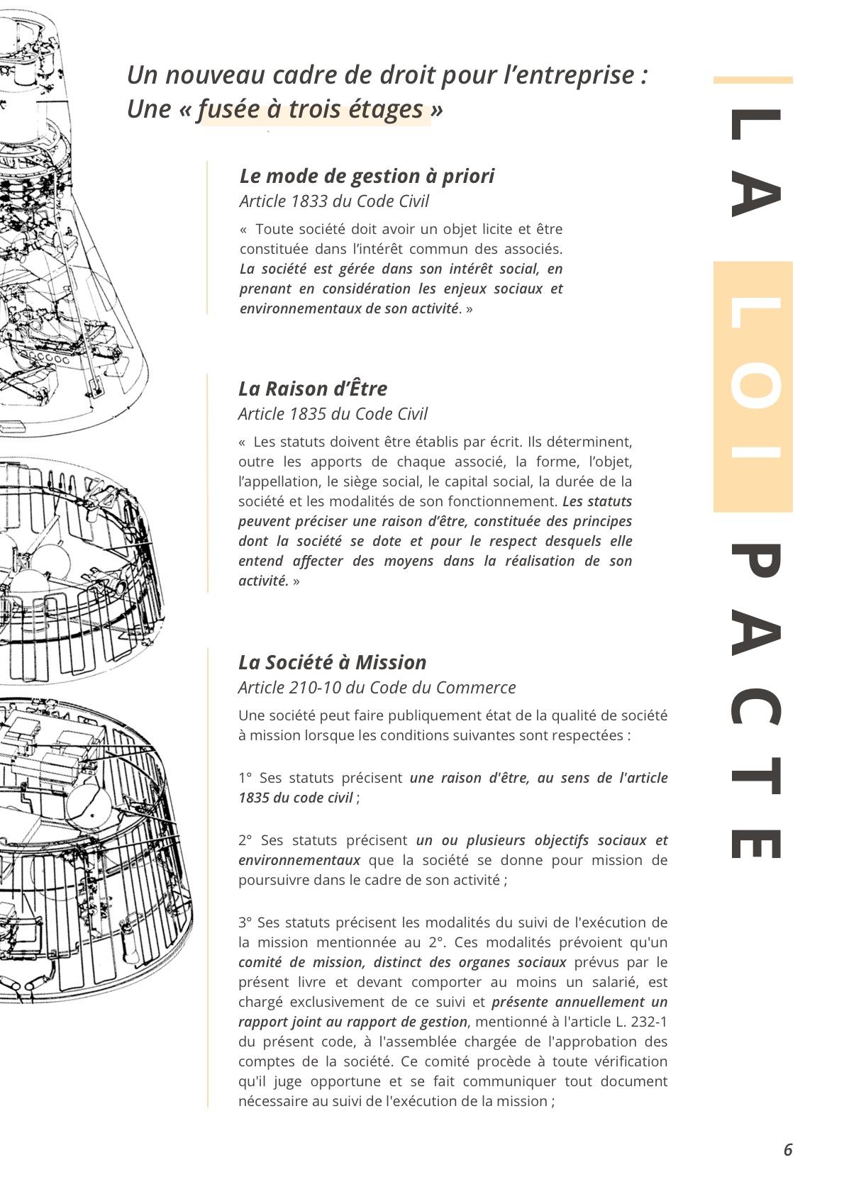 La loi pacte : sociėtė à mission, entreprise á mission et raison d'être